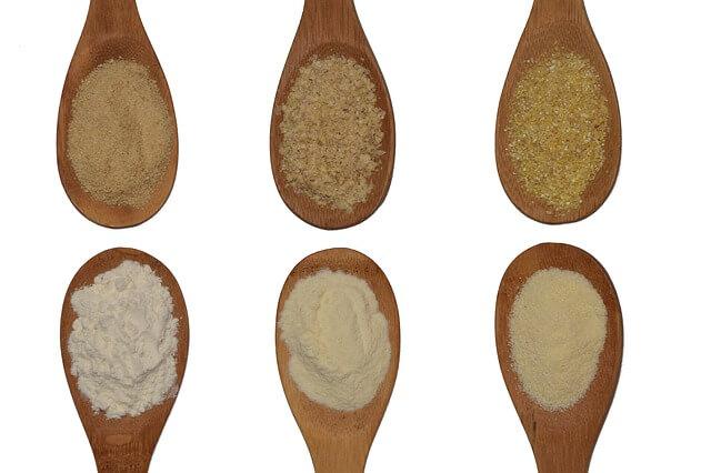 数種類の粉末